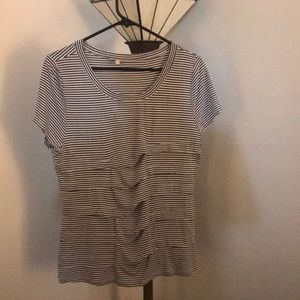 Dark grey and white striped Pixley shirt.Worn once